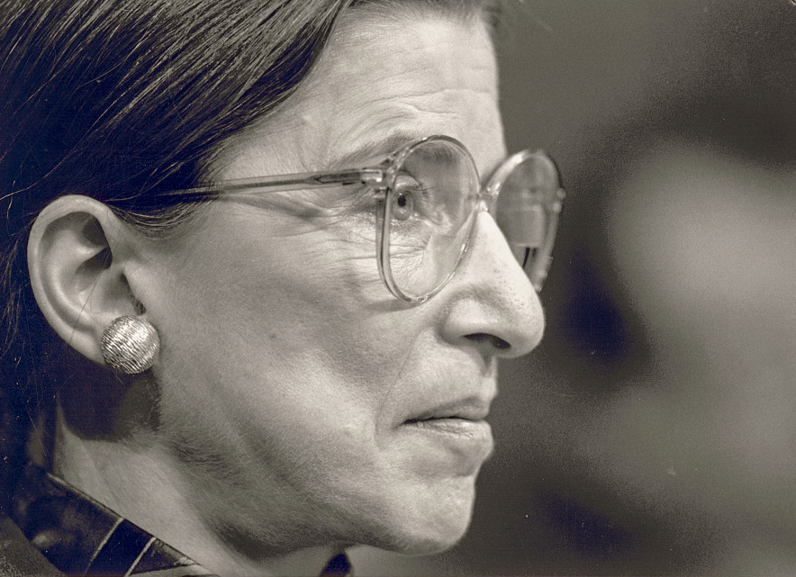 Ruth Bader Ginsburg at her confirmation hearing