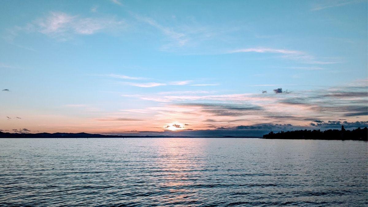 sundown over lake constance